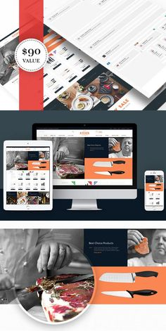 Ves Kitchen. Magento Themes. $72.00