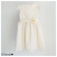 Girls Tulle Lace Dress  Girls Ivory Embroidered by OsEstorninhos, €40.00