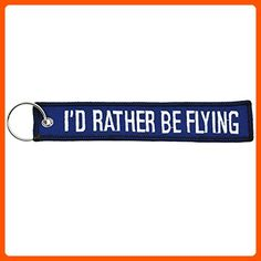 1x I'd Rather Be Flying Aviation Flight Key Chain Blue/White - Apex Imports … - Little daily helpers (*Amazon Partner-Link)