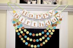 Happy Birthday banner Pooh inspired birthday by DCBannerDesigns