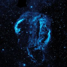 Cygnus Loop #nebula over 1500 light years away. Captured by NASA's Galaxy Evolution Explorer. #nasa #space #cygnus #mindblowing #blue #gorgeous #universe