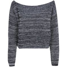 Boohoo Maria Marl Knit Slash Neck Jumper ($16) ❤ liked on Polyvore featuring tops, sweaters, shirts, jumpers, shirt sweater, jumper shirt, marled sweater, boat neck shirt and boat neck tops