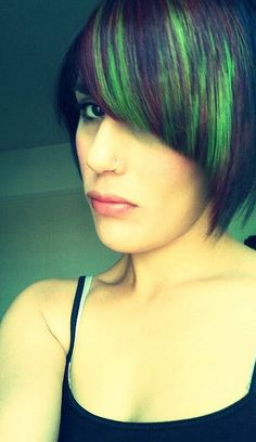Green & Red Hair