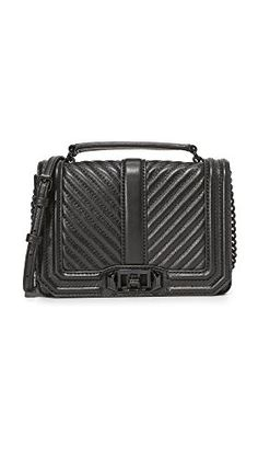 Rebecca Minkoff Womens Chevron Quilted Cross Body Bag Black One Size ** Check out this great product.