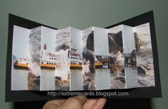 lenticular pop up book. Would be an efficient and convenient method to using several lenticulars to display information.