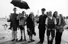 Monty Python Behind The Scenes: Left to right: John Cleese, Terry Gilliam, Terry Jones, Graham Chapman, Michael Palin, Eric Idle.