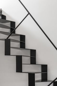 The architecture on these stairs is amazing! This would add so much uniqueness to a house. Interior Staircase, Staircase Design, Steel Stairs Design, Architecture Design, Architecture Interiors, Stairs To Heaven, Escalier Design, Stair Handrail, Railings