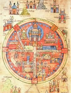 Medieval map of Jerusalem. Love it! ;)
