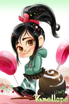 Vanellope from Wreck it Ralph by lujji.deviantart.com