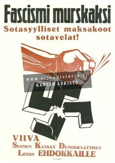 Election poster, Finland, 1945