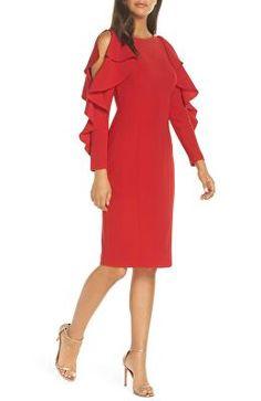 d8d7f91bb07 ELIZA J Designer Ruffle Sleeve Sheath Dress Eliza J Dresses