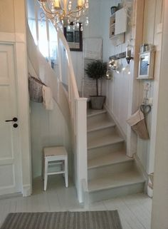 "I could fit these stairs in my breakfast room if we decide to add ""up""."