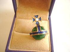 Vintage Jewelry Signed Crown Trifari Royal Orb by sanibelsands, $125.99