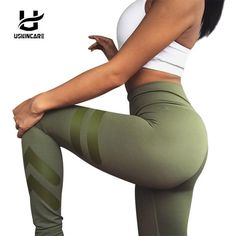 USKINCARE Army Green Women's yoga pants for Fitness… Get an EXTRA 20% OFF ALL Orders with discount code: FWCOM20 #BestPrice #DiscountCode