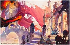 John Howe - Errol and the Red Dragon - A Diversity of Dragons - 1997