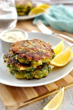 An entire head of broccoli and only a small amount of batter is used to make these irresistible fritters that even kids gobble up. #broccoli #fritters #vegetarian