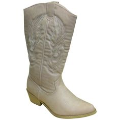 Pierre Dumas Womens Western Boots 11 B M US Ivory ** Check out the image by visiting the link. (This is an affiliate link) Western Boots, Cowboy Boots, Pierre Dumas, White Boots, Mid Calf Boots, Westerns, Women Jewelry, Brown, Link