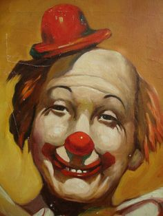 Clown Painting by Eddie/Circus Clown/Make up by SimplyGailVintage