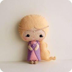 Rapunzel felt doll