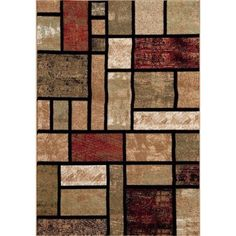 Persian Rugs 1007 Beige Modern Design contemporary area rug