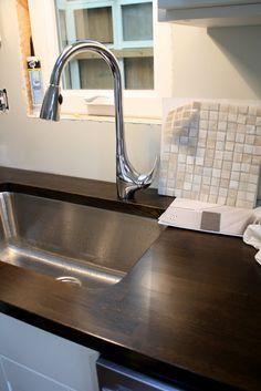 Butcher Block Countertops Kitchens Forum Gardenweb With Ebony Stain