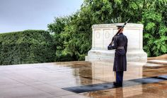 Tomb of the Unknown Soldier is located in the Arlington National Cemetary. Image from http://www.wunderground.com
