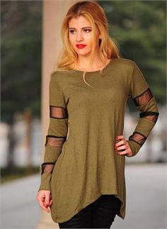 Bayn Triko Bluz 2560 Yeşil