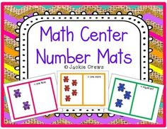 Here are kindergarten number mats for number comparisons up to 10. There are equal sets, one more, and one less for all the numbers for except number one (I did not include one less for number one). Kids can use whatever counters you have on hand.  I liked the bears so I used them.