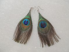 Items similar to Peacock Feather Earrings, Dangler Earrings, Handmade Earrings, Indian Earrings, Feather Earrings on Etsy Feather Earrings, Dangle Earrings, Peacock, Jewelery, Dangles, Delicate, Beautiful, Color, Jewelry