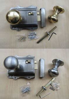 SNIB SOLID CAST POLISHED BRASS OLD ENGLISH STYLE BEDROOM DOOR RIM LATCH