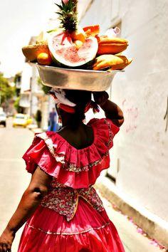 Palenquera, tradicional de Cartagena