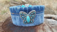Check out this item in my Etsy shop https://www.etsy.com/listing/448838772/denim-wire-cuff-bracelet-with-bling