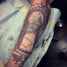 And here it is with the line work done! #tattoo inspired by #kingkillerchronicles @PatrickRothfuss