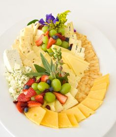 Gourmet Cheese and Fruit Tray: