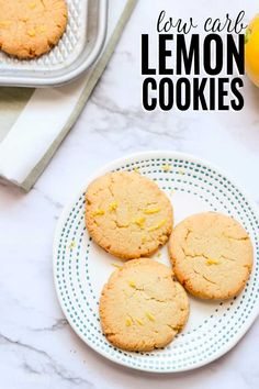 I absolutely love how soft and chewy these sugar-free low carb lemon cookies are! Made with almond flour and coconut flour and less than 5g net carbs per cookie. #lowcarb #sugarfree #domesticallycreative #lemon #cookie