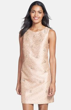 Eliza J Embellished Jacquard Shift Dress available at #Nordstrom