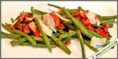Low Carb Rezept - Speckbohnen mit Parmesan