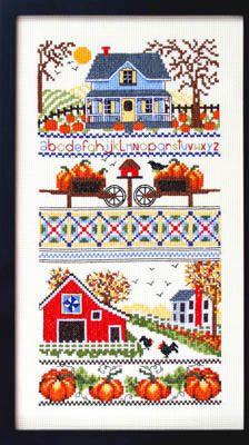 Mrs Smith Pumpkin Farm - Cross Stitch Pattern