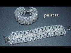 DIY – Pulsera con brillantes parte DIY – Bracelet with brilliants part – Macrame 2020 Bracelet Tutorial, Diy Bracelet, Seed Bead Jewelry, Crystal Jewelry, Bead Loom Bracelets, Jewelry Bracelets, Jewellery, Handmade Bracelets, Handmade Jewelry