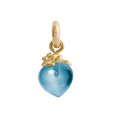 Dänische Handwerkskunst aus Familientradition begeistert alle - Ole Lynggaard: Anhänger Dew Drop, Topaz blau A2722-405
