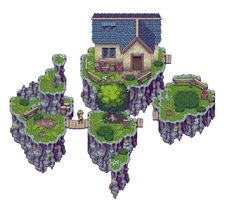 RPG Tileset: Green Forest by Kiwinuptuo.deviantart.com on @deviantART