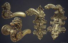 ArtStation - The Order: 1886 - ornate levers, Dariusz Drobnica