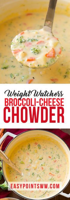 Weight Watchers Broccoli Cheese Chowder ♥