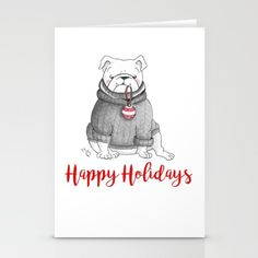 Dexter's Christmas - $12 Cute Christmascard with English Bulldog