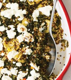 Root Vegetable–Baked Quinoa with Kale & Goat Cheese