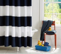 Shop rugby shower curtain from Pottery Barn Kids. Find expertly crafted kids and baby furniture, decor and accessories, including a variety of rugby shower curtain.
