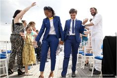 alex & audrey - two suits, stylish london lesbian wedding