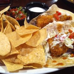 Fish Tacos at Champions