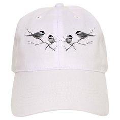 chickadee song bird Baseball Cap on CafePress.com