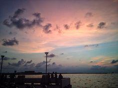 afternoon sky, losari, makassar, south sulawesi